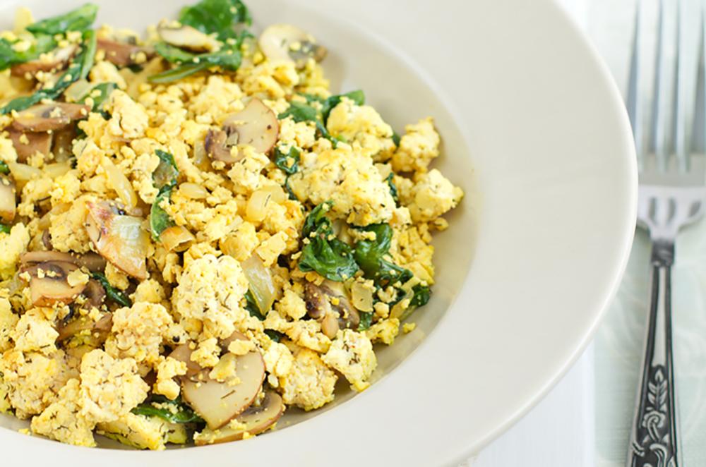 Southwest Tofu and Egg Scramble